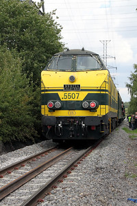 5507 at Ground Frame on Zoning d`Engis branch on 5th September 2009