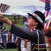 Mike Rockwood, a Lakota, dances in the Grand Entry  at the Fourth Annual Circle Legacy Center Powwow in Memorial Park, Pottstown May 6, 2017.  (Bob Raines/Digital First Media)