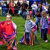 Bella Brown, Angelica and Alayna Gephardt and their mother, Kendra Brown, dance at the Fourth Annual Circle Legacy Center Powwow in Memorial Park, Pottstown May 6, 2017.  (Bob Raines/Digital First Media)
