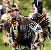 BOB RAINES--DIGITAL FIRST MEDIA //  William Two Hawk Smith dances at the PowWow on Manatawny Creek, Pottstown May 7, 2016. His ancestry is Choctaw, Occaneechi, and Lakota.