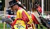 BOB RAINES--DIGITAL FIRST MEDIA // <br /> Matt White Eagle does his interpretation of a Fancy Dance at the Pow Wow on Manatawny Creek, Pottstown  May 7, 2016. His heritage is Mi'kmaq.