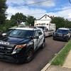 Pottstown police closed a portion of the 400 block of Lincoln Avenue in Pottstown after a shooting incident involving a father and son. (Eric Devlin/Digital First Media)