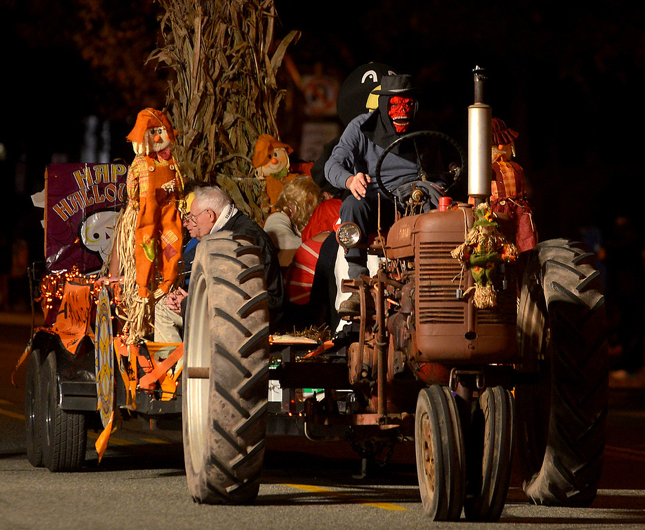. The Pottstown Rotary Club used a harvest theme for its float in the Pottstown Halloween Parade Oct. 24, 2017. (Bob Raines--Digital First Media)