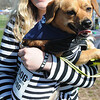 John Strickler - Digital First Media<br /> Dressed up as jailbirds for the 10th annual Bark for Life in Pottstown are Chloe Hebert and her'bad to the bone pooch' Eli.