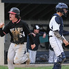 John Strickler - Digital First Media<br /> Bear's 24 Mitch Pinder celebrates as he scores the go ahead run in the top of the eight inning to take a 2-1 lead over Pottstown. The score held up giving Boyertown the victory.