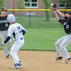 John Strickler - Digital First Media<br /> Bears 30Seth Endy snags a blooper to double up Pottstown's 11 Logan Pennypacker stealing in the bottom of the 1st inning.