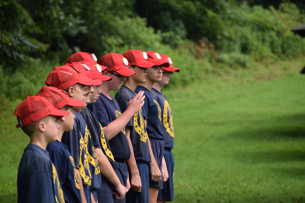 . Marian Dennis � Digital First Media Campers could be seen lining up at Camp Cadet Thursday as they took part in various police-related activities planned throughout the week.