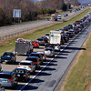 Traffic backs up from the Sanatoga exit of westbound 422 Expressway as drivers try to get off to get to Philadelphia Premium Outlets Nov. 24, 2017. (Bob Raines--Digital First Media)