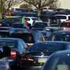 Shoppers make their way threw a crowded parking lot at Montgomery Mall on Black Friday Nov. 24, 2017. (Bob Raines--Digital First Media)