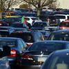 Shoppers make their way threw a crowded parking lot at Montgomery Mall on Black Friday Nov. 24, 2017. (Bob Raines--Digital First Media)