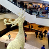 A 24-foot reindeer lights up King of Prussia Mall Nov. 24, 2017. (Bob Raines--Digital First Media)