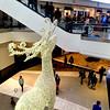 A 24-foot reindeer lights up King of Prussia Mall Nov. 24, 2017. (Bob Raines--Digital First Media)
