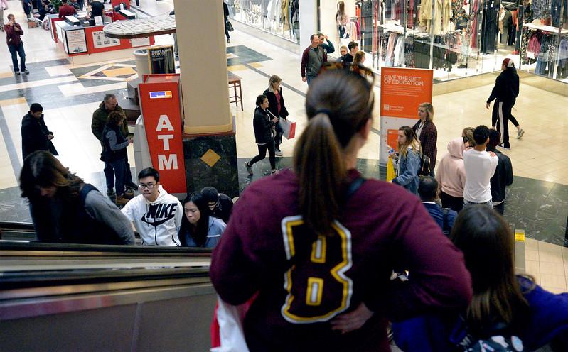 Shoppers roam Montgomery Mall on Black Friday Nov. 24, 2017. (Bob Raines--Digital First Media)