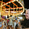 George Wausnock, President of the Carousel at Pottstown,watches a 16 year dream come to fruition....Photo/Tom Kelly III