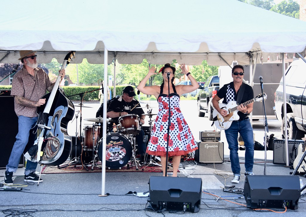 . Jesi Yost - Digital First Media  For the first time, Cruise Night featured live music; The Fifty Fives Band, a rockabilly group from Dover, Del. performed.