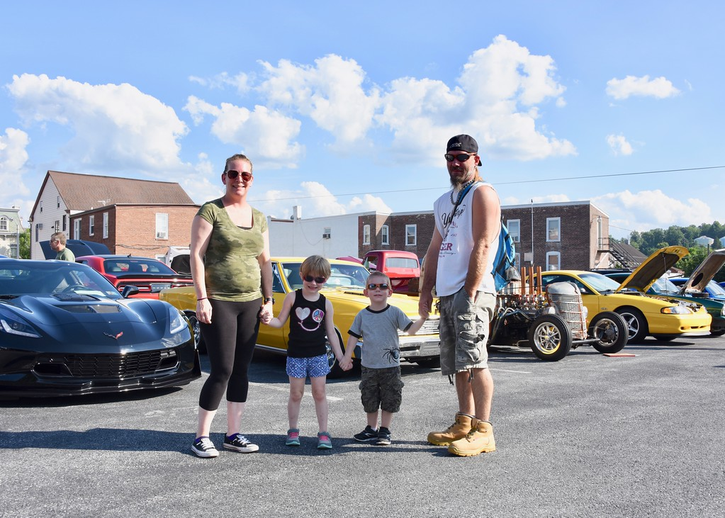 . Jesi Yost - Digital First Media  Linda Wanzel, Emma Nester, 6, Mason Nester, 3, and Todd Nester attend Cruise Night every year because as Mason Nester said, �We love cars.�