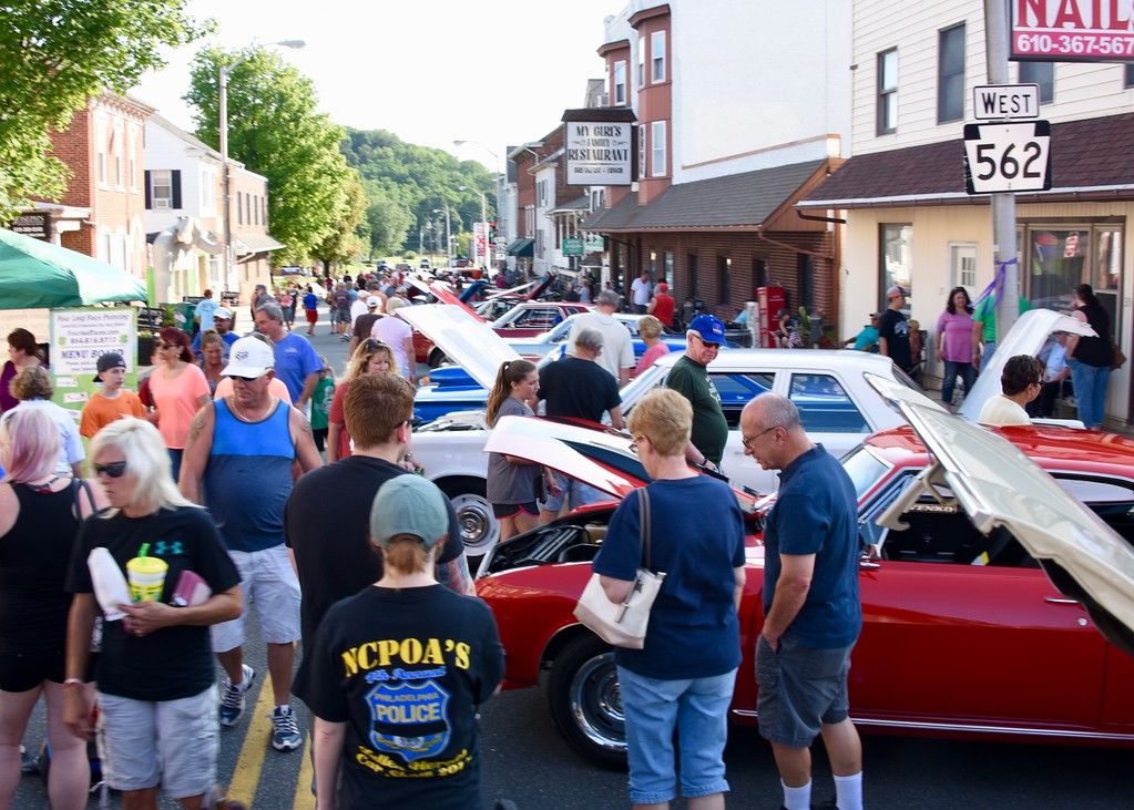. Jesi Yost - Digital First Media  Building A Better Boyertown hosted the 11th Annual Cruise Night on July 28.
