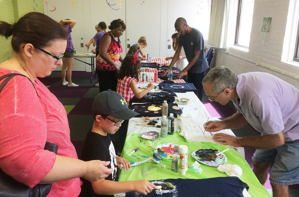 . Pottstown Library\'s Galaxy Painting Party Friday. Photo by Evan Brandt - Digital First Media