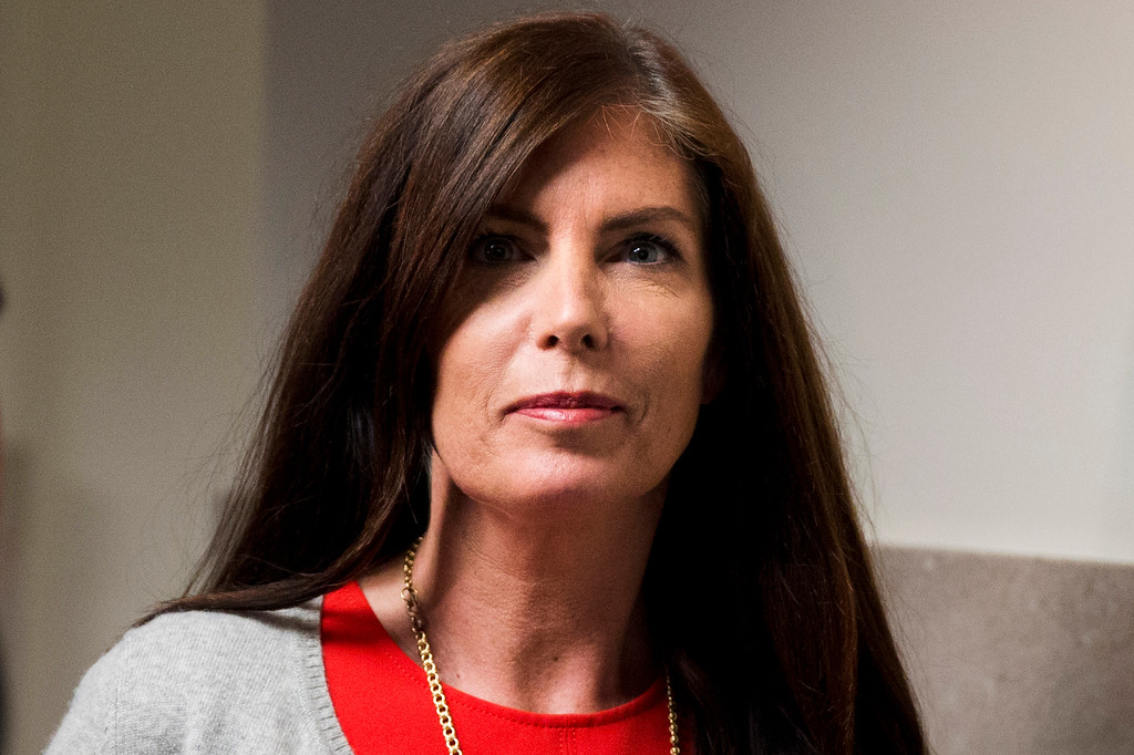 . Pennsylvania Attorney General Kathleen Kane departs after her preliminary hearing Monday, Aug. 24, 2015, at the Montgomery County courthouse in Norristown, Pa. Kane is accused of leaking secret grand jury information to the press, lying under oath and ordering aides to illegally snoop through computer files to keep tabs on an investigation into the leak. (AP Photo/Matt Rourke)