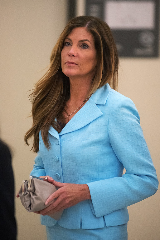 """. Pennsylvania Attorney General Kathleen Kane walks into the courtroom on the opening day of her trial at the Montgomery County Courthouse Monday, Aug. 8, 2016 in Norristown, Pa. An ethics board accused Kane of \""""egregious conduct\"""" amid criminal charges she leaked grand jury material to a newspaper to embarrass enemies and then lied about it under oath. (Bill Fraser/Bucks County Courier Times via AP, Pool)"""