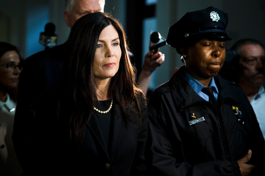 . Pennsylvania Attorney General Kathleen Kane walks from the State Supreme Court room, Wednesday, March 11, 2015, at City Hall in Philadelphia. The court heard arguments on the legality of a special prosecutor who led a grand jury investigation. The grand jury has recommended perjury, obstruction and other charges against Kane. (AP Photo/Matt Rourke)
