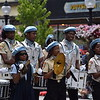 NAACP band members keep bystanders tapping their toes as they parade down High Street Tuesday. The band was one of several that performed during the Pottstown GoFourth! Festival on Tuesday. --Marian Dennis, Digital First Media
