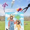 Jesi Yost - Digital First Media <br /> Tara Hirschtritt, 9, and Paige Hirschtritt, 6, of Leesport pose in a farmer and carrot face cutout.