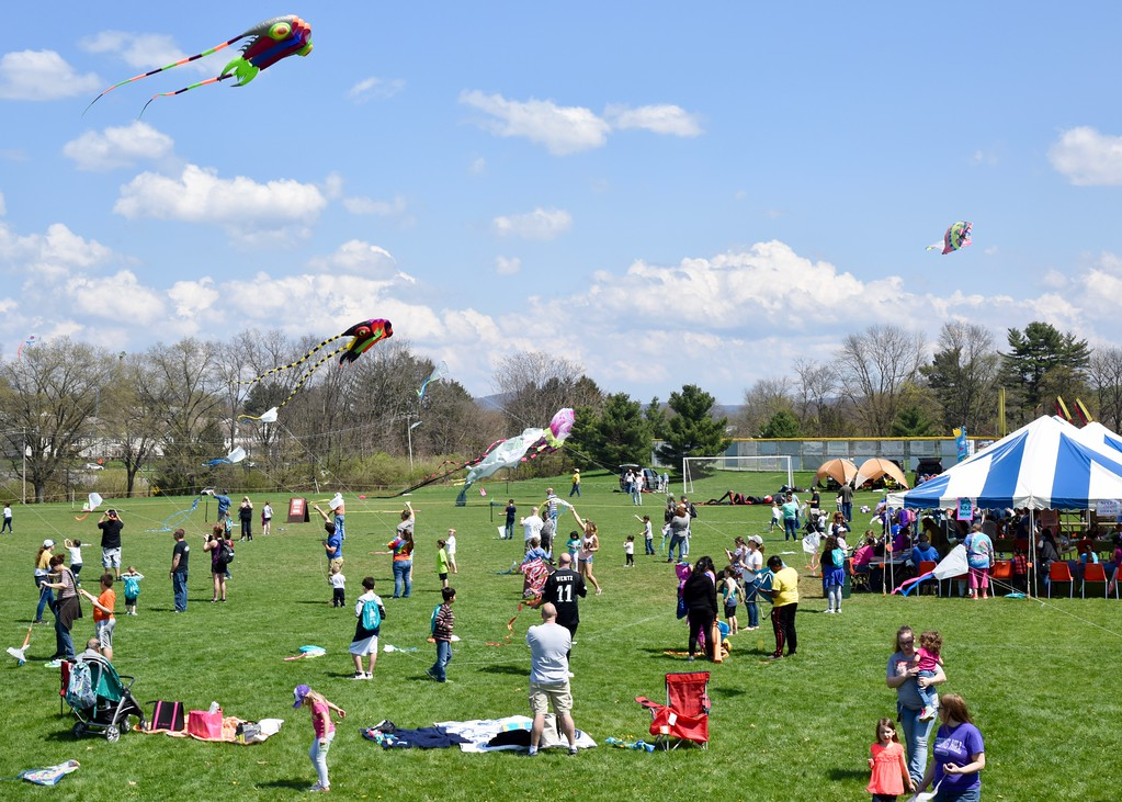 . Jesi Yost - Digital First Media  Berks County residents flew kites at the 31st annual Go Fly a Kite! Day on April 28 at the Youth Recreation Facility in Bern Township.