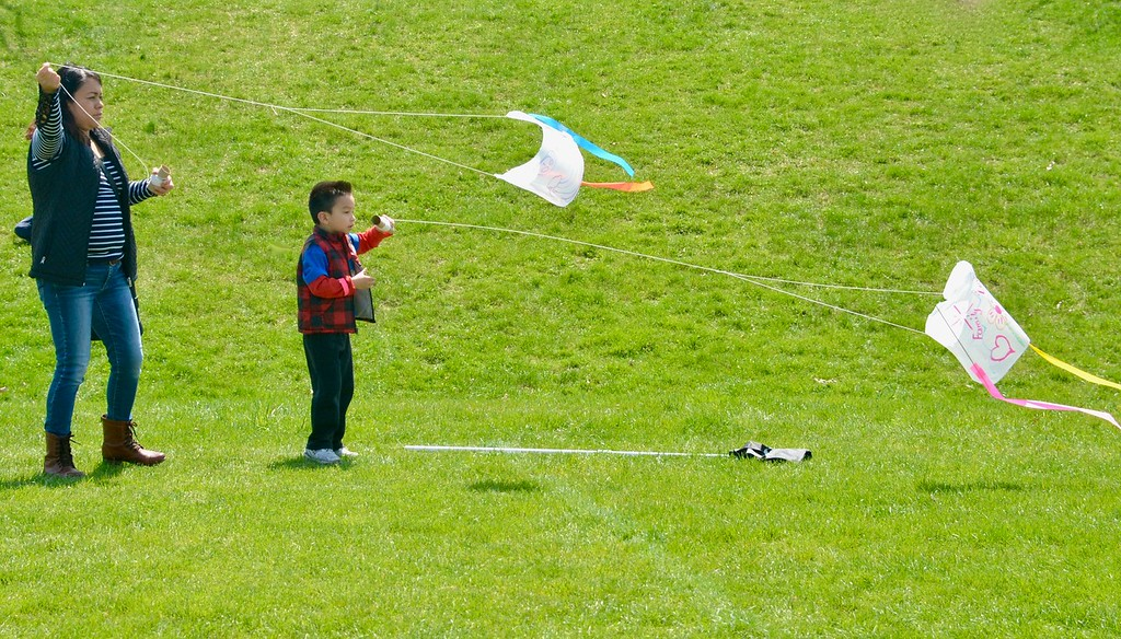 . Jesi Yost - Digital First Media  Flying kites at Go Fly A Kite Day in Bern Township on April 28.
