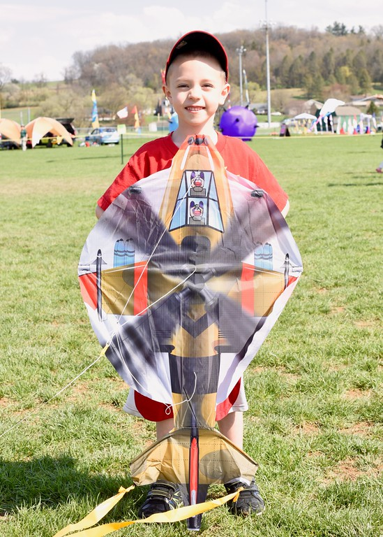 . Jesi Yost - Digital First Media  Christian Ruhl, 6, attends Go Fly a Kite Day every year with his Nana and PopPop. �We love Fly a Kite Day!�