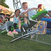 Friends Brooklyn Howard and Dylan LaSpina enjoy The Sky Race at the Kimberton Fair. Photos by Barry Taglieber for Digital First Media