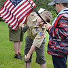 Wyatt Dry from Pottstown Boy Scout Troop 99 and Ethan Chambers from Cub Scout Pack 146 place US Flags on veteran's graves as they get ready for Memorial Day at Highland Memorial Park. Photo by Tom Kelly III - For Digital First Media