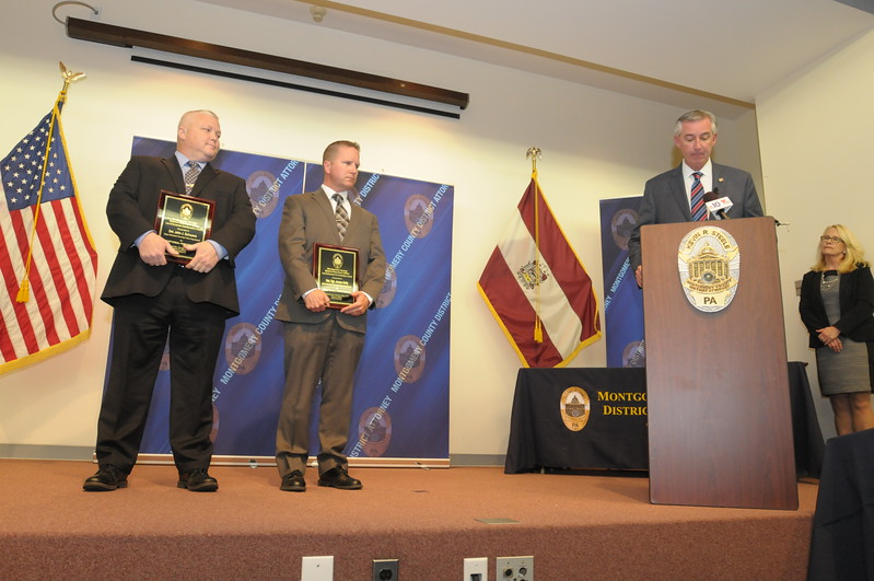 Montgomery County District Attorney's office honors law enforcement and civilian with commendations May 11, 2017. Gene Walsh — Digital First Media