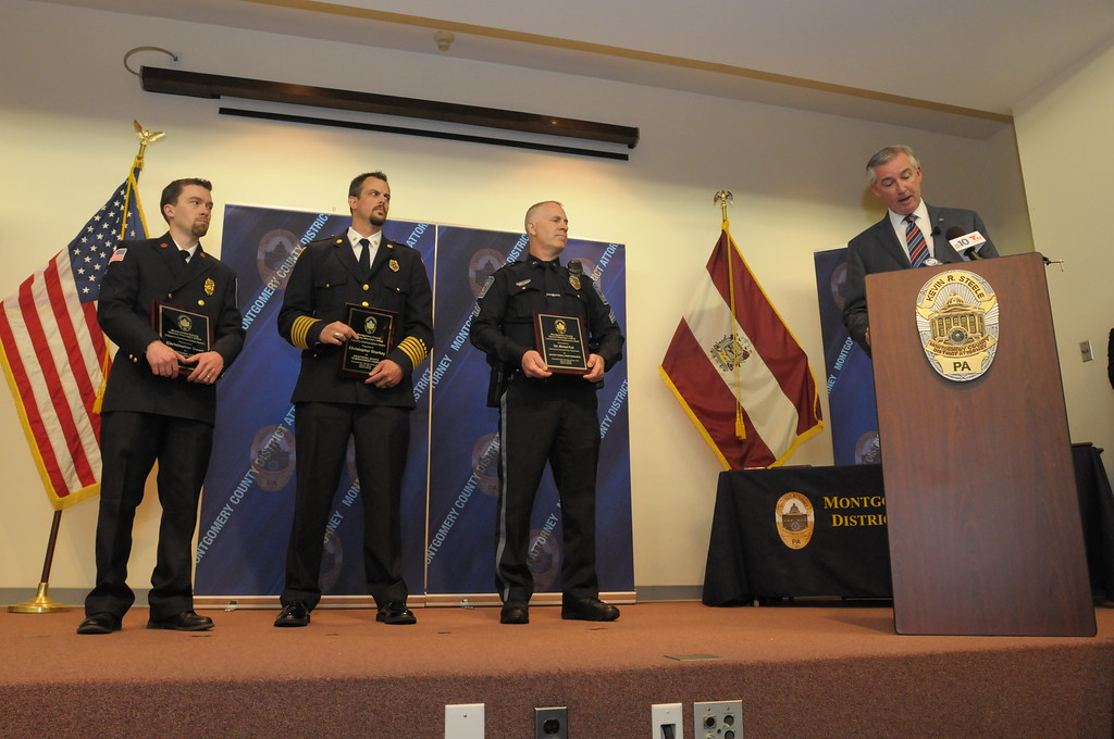 . Montgomery County District Attorney�s office honors law enforcement and civilian with commendations May 11, 2017. Gene Walsh � Digital First Media