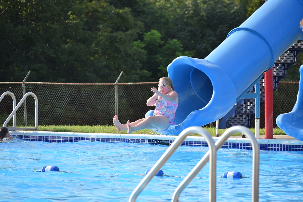 . Guests at the first ever Amity Township National Night Out event had free access to the Amity Athletic Club pool. The event drew in hundreds looking to enjoy what their community has to offer. Marian Dennis -- Digital First Media