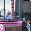 Amity Police Chief Andrew Kensey gets dunked during Amity Township's first ever National Night Out event.<br /> Marian Dennis -- Digital First Media