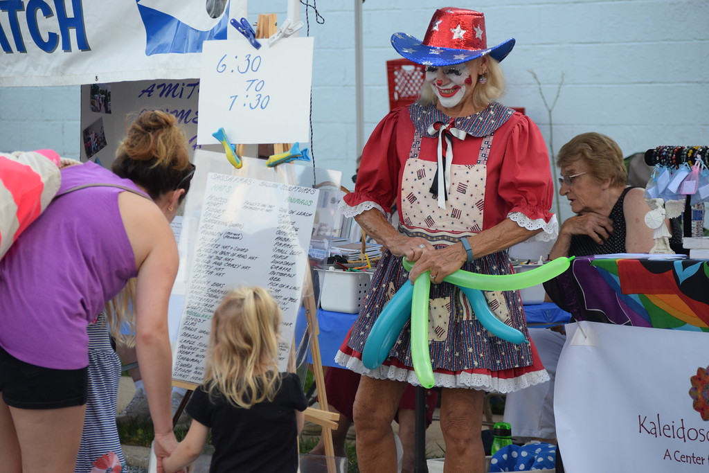 . Kids received balloon animals and had the opportunity to participate in lots of different games during the first ever Amity Township National Night Out event held at the Amity Athletic Club pool. Marian Dennis -- Digital First Media
