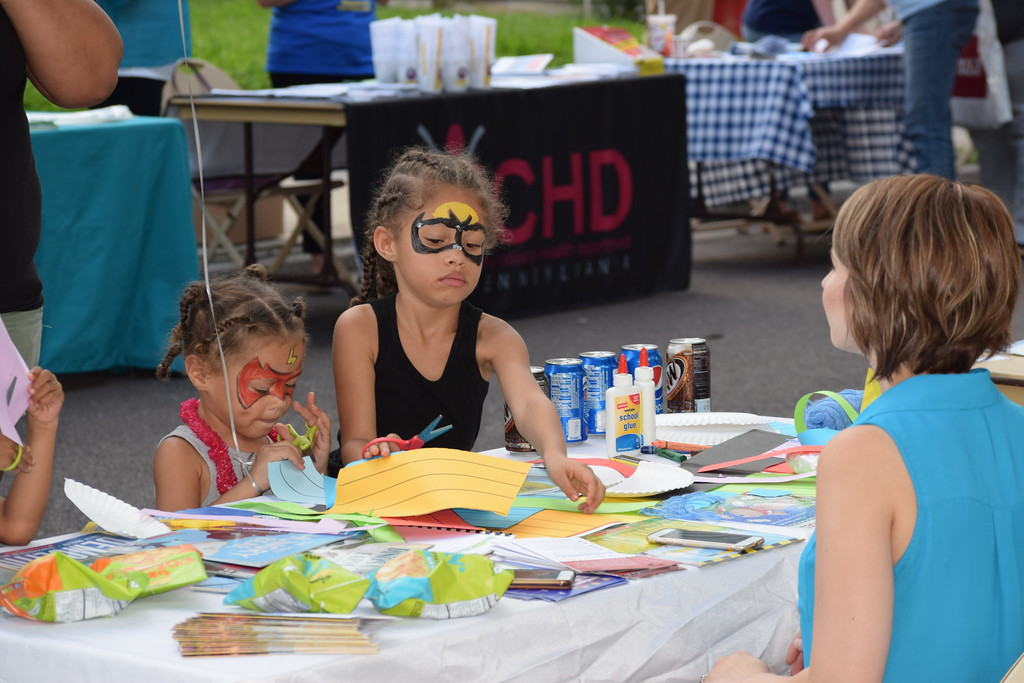 . Kids enjoyed crafts, music and games during National Night Out in Pottstown at Washington and Chestnut streets. Marian Dennis -- Digital First Media