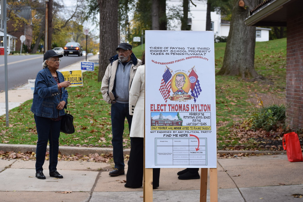 . Marian Dennis - Digital First Media Voters slowly made their way to the polls Tuesday afternoon in Pottstown.