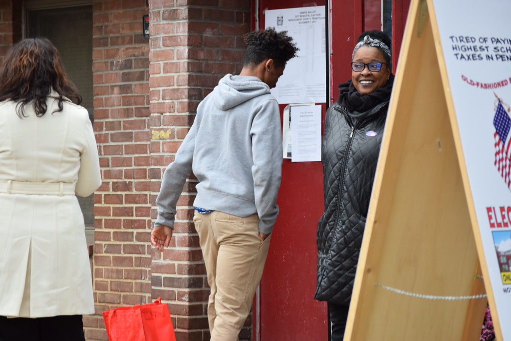 . Marian Dennis - Digital First Media Voters were welcomed with smiles as they made their way into the Olivet Boys and Girls Club Tuesday Nov. 7 to cast their votes.