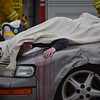 Owen J. Roberts High School conducted a mock crash Thursday meant to draw attention to the severe consequences that can arise from drinking and driving. <br /> Marian Dennis -- Digital First Media