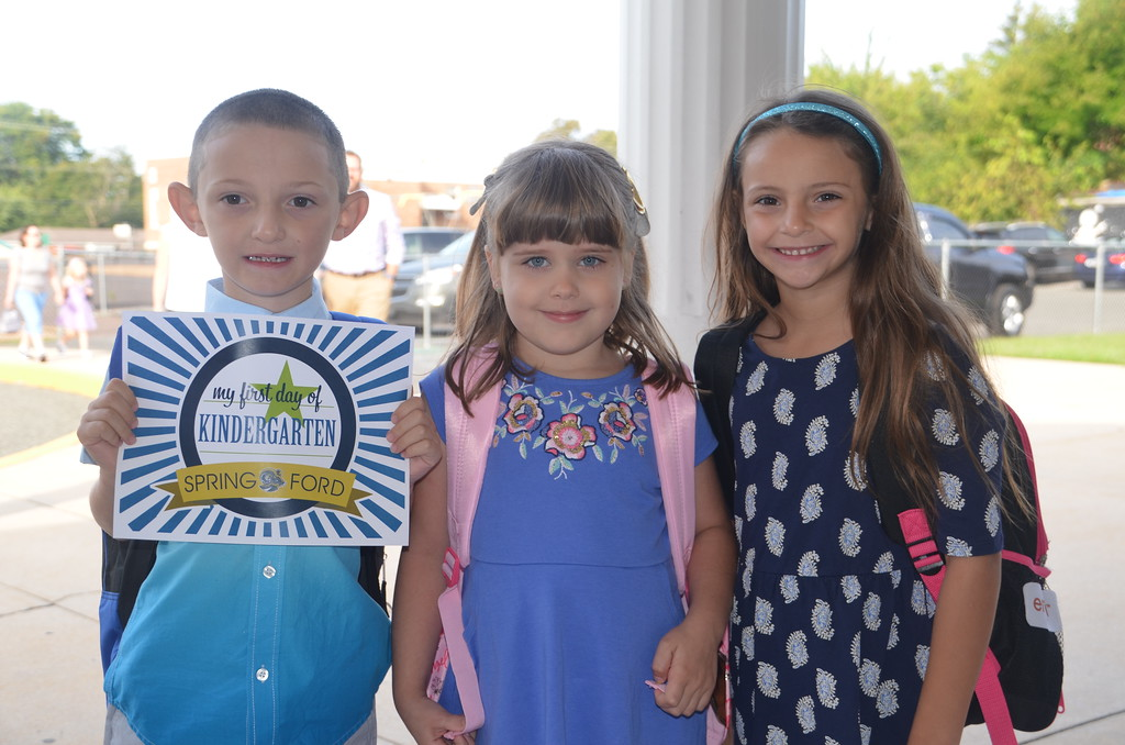 . Students are all smiles at Royersford Elementary School on their first day kindergarten. Submitted photo