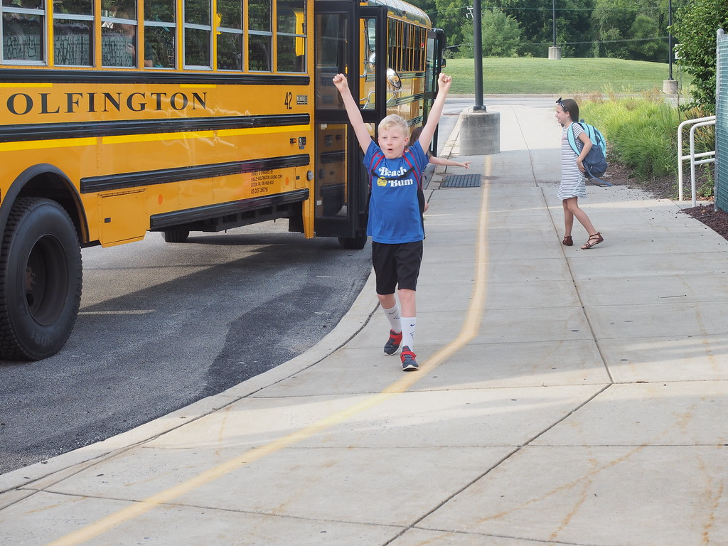 . Some students were very excited to start the school year. Submitted photo