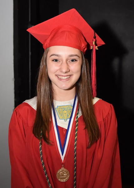Photo by Jesi Yost<br /> Valedictorian  Taylor  J.  Winner