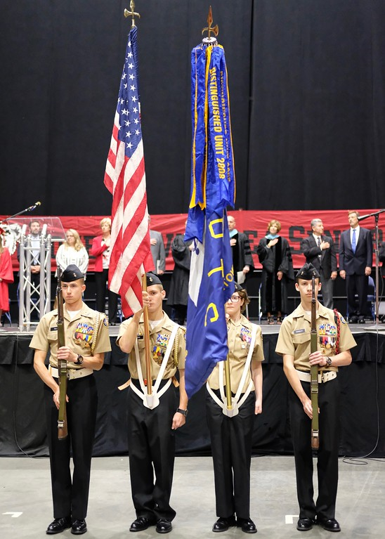 . Photo by Jesi Yost Boyertown  Area  High  School  NJROTC  Color  Guard