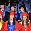 Photo by Jesi Yost<br /> Class  President,  Sam  Longacre,  Public  Relations  Officer,  Martin  Davidheiser,  Vice  President,  Jimmy  Towers,  Treasurer,  Connor  Sargent  (back  row)  Salutatorian,  Hallie  Paules,  Secretary  Jennifer  O'Connor,  and  Valedictorian  Taylor  Winner  (front  row).