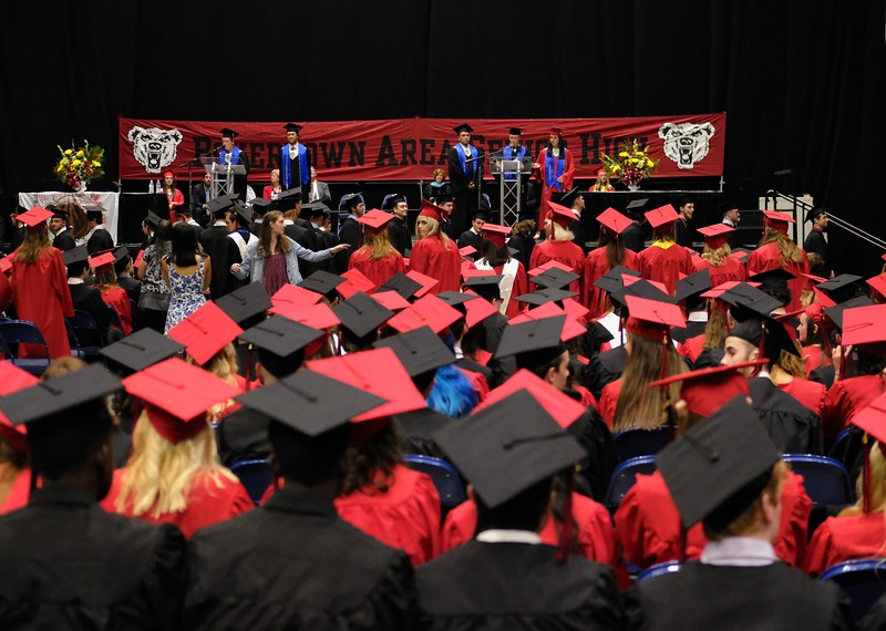 Photo by Jesi Yost<br /> 536  Boyertown  Area  High  School  Seniors  graduate  at  the  Reading,  PA  Santander Arena.