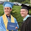 Jesi Yost — For Digital First Media<br /> Class of 2018 president Joshua Heffner receives his diploma from Daniel Boone High School Principal Preston McKnight.