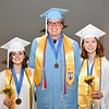 Jesi Yost — For Digital First Media<br /> Valedictorian Jordyn Markle, Bradley DeMild, Third Honors, and Salutatorian Julia Bulafka spoke to their fellow graduates on Friday evening during Daniel Boone High School's commencement.