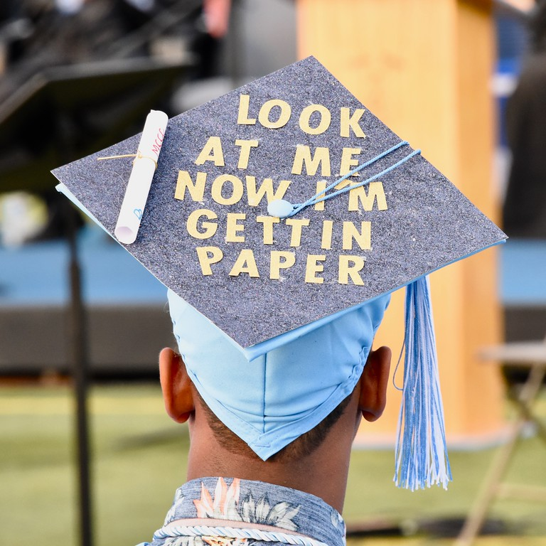 . Jesi Yost � For Digital First Media For the first time, Daniel Boone students were permitted to decorate their graduation caps.
